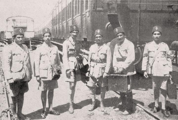 Volunteers who travelled to Saurashtra, Gujarat, during the 1927 floods. Photo: Courtesy of Hussain Jasani (IIS, London).