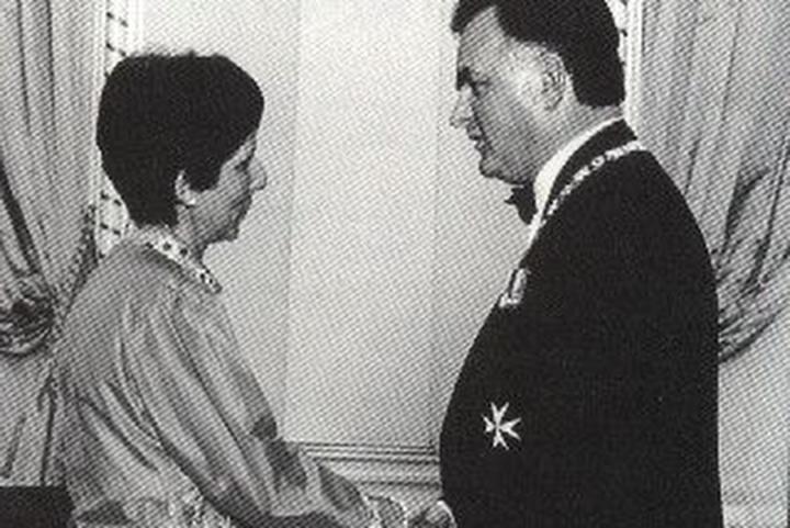 Mawani s'est vue décerner l'Ordre du Canada en 1993. Crédit : Offert à titre gracieux par Nurjehan Mawani.